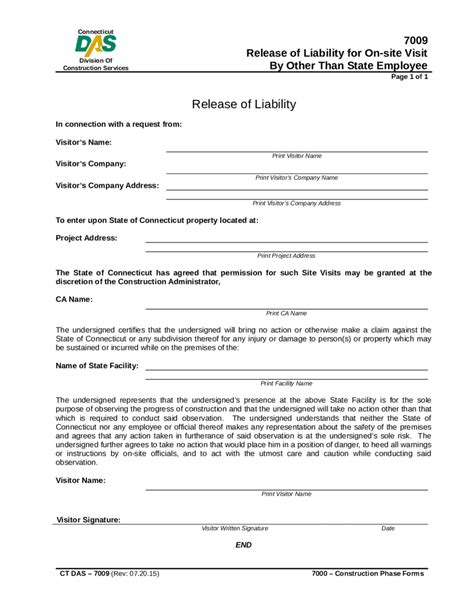 waiver template release of liability form what is release of liability free printable templates