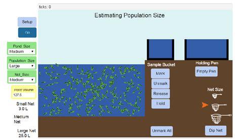 estimating population size  netlogo simulation
