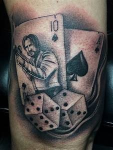 John, Wick, Playing, Card, Tattoo