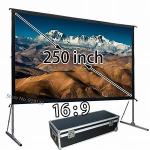 Format 16 9 Berechnen : wholesale oversize projector screen 250 inch 16x9 hd format front projection screens fast fold ~ Themetempest.com Abrechnung