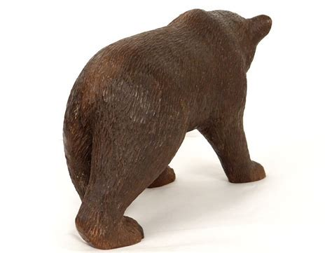 Superbe sculpture ours bois Forêt Noire Black Forest