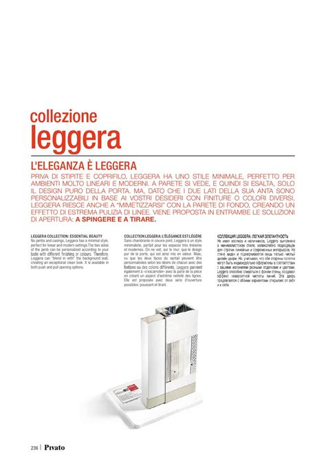 Pivato Porte Catalogo by Catalogo Pivato Leggera Porte Interne In Legno Porte Per