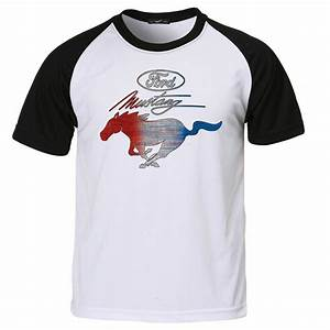 Mens Ford Mustang T Shirt Pony Logo Genuine American Classic Muscle Car Shirts - Hot Rod 58