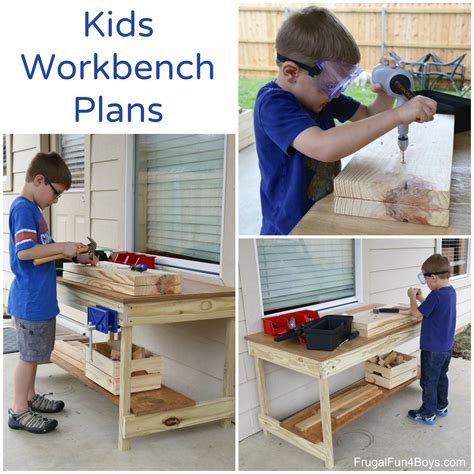 kids workbench plans build   kids woodworking space