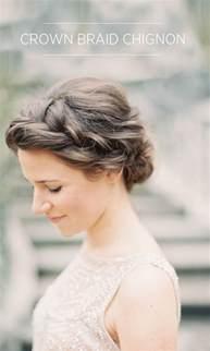 wedding braids crown braid chignon tutorial once wed