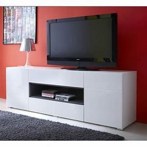 Meuble De Rangement Haut : meuble tv haut laque ~ Teatrodelosmanantiales.com Idées de Décoration