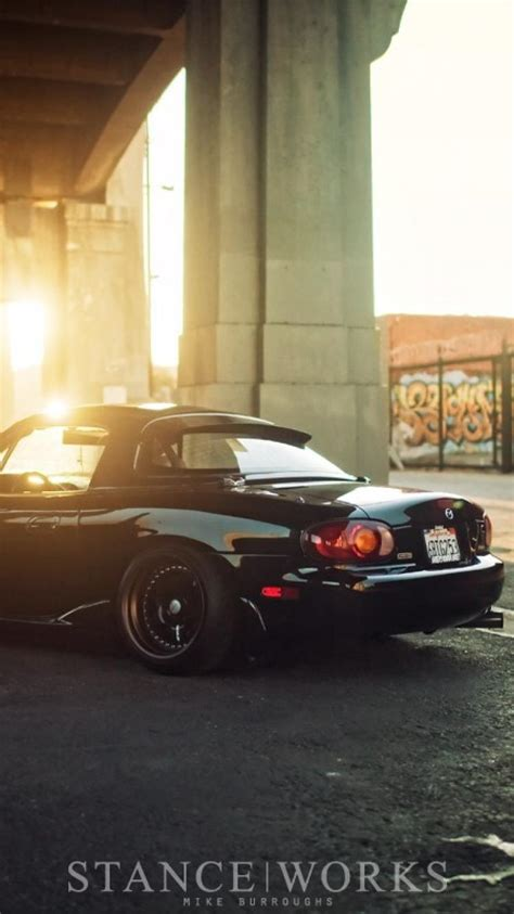 slammed cars iphone wallpaper japanese cars slammed jdm miata wallpaper 89005