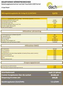 Amortisationszeit Berechnen : wie institute die kosten von solarthermie berechnen ~ Themetempest.com Abrechnung