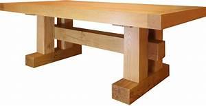 Table Bois Massif Contemporaine : table poutre ch ne massif ~ Teatrodelosmanantiales.com Idées de Décoration