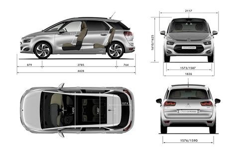dimension grand c4 picasso dimension grand c4 picasso citro n grand c4 picasso 1 fiche technique dimensions citroen c4