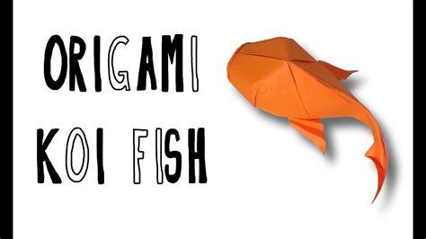 Origami Koi Fish Riccardo Foschi Youtube