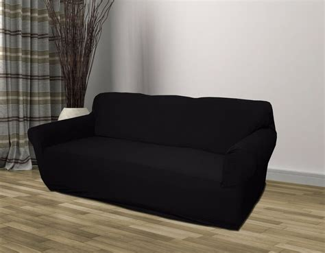 loveseat free shipping black jersey sofa stretch slipcover cover