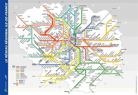 Carte Rer Parisien by Metro Rer Transport Maps