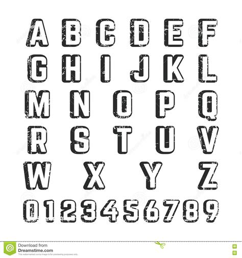 number letters in alphabet sle letter template alphabet college font template vector illustration 66133