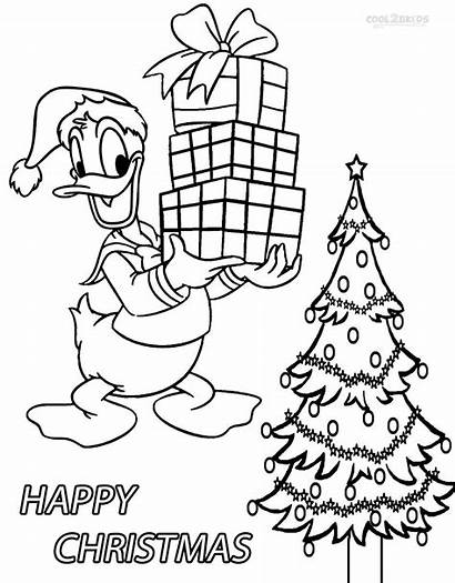 Duck Donald Coloring Pages Christmas Daisy Printable