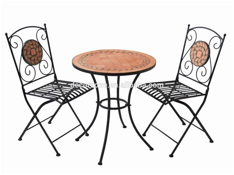 garden furniture mosaic table and chair bistro set