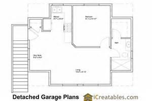 22 X 24 Garage with Apartment Floor Plans