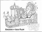 Mardi Gras Coloring Pages Printable Float Sheets Universal Parade Orlando Studios Coloring4free Sheet India Beads Template Detailed Parades Getcoloringpages Jester sketch template