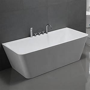 Freistehende Badewanne Mit Whirlpool : freistehende badewanne mit armatur acryl wei modern 170x80cm sylt m bel24 ~ Bigdaddyawards.com Haus und Dekorationen