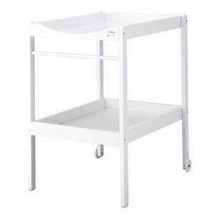 table a langer alice bois massif laquee blanc de combelle With table a langer bois massif