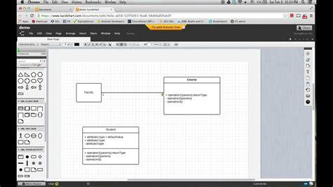 lucidchart  draw uml class diagram youtube