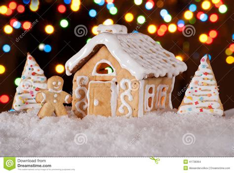 gingerbread house  gingerbread man  christmas trees stock photo image  glaze biscuit