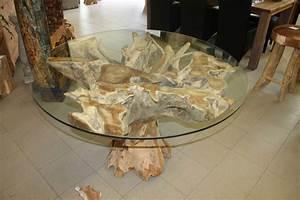 Glastisch Mit Holz : tisch aus wurzelstock die m bel f r die k che ~ A.2002-acura-tl-radio.info Haus und Dekorationen