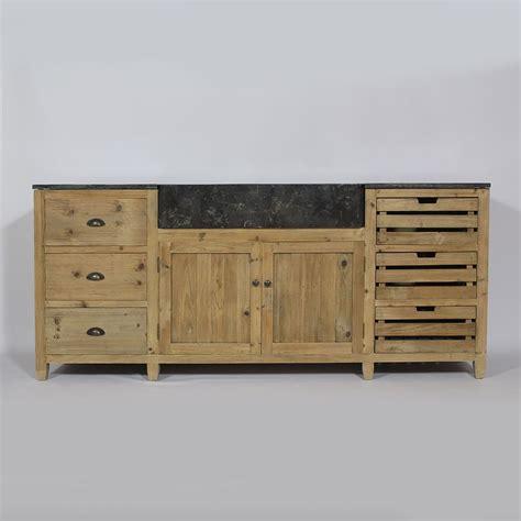plateau cuisine bois cuisine bois recyclé avec plateau en bleue