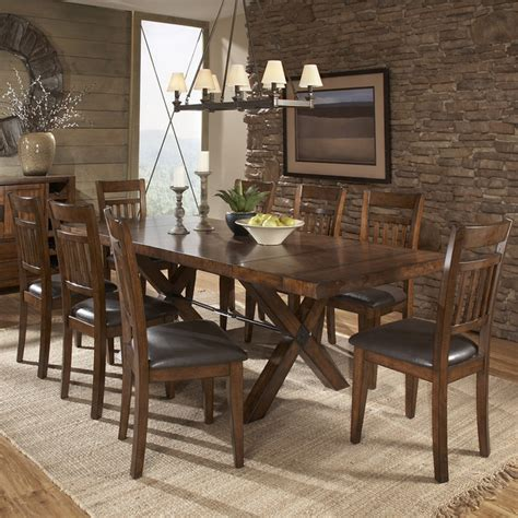 Tribecca Home Dining Furniture by Tribecca Home Inverness Warm Oak Turnbuckle Extending