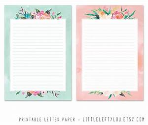 printable letter paper floral stationery writing letter With letter stationary