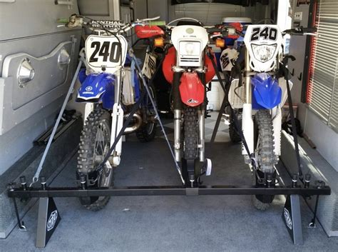 Motorcycle Tie-down Rack System For Three Dirt Or Off-road