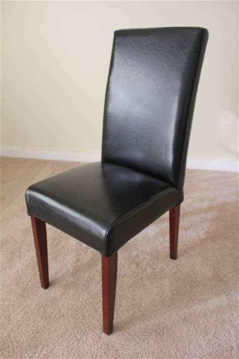 black leather parsons dining chair contemporary dining