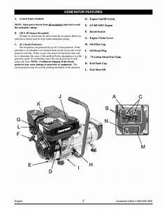 Coleman Powermate Pm01103002 Generator Owners Manual