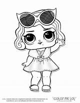 Coloring Omg Doll Pages Lol Dolls Colouring Surprise Printable Popular American sketch template