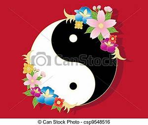 Chinese Flowers Vector Clipart - Instant Download - csp9548516