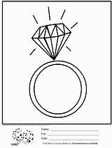 Coloring Jewelry Ring Diamond Pages Rings Colouring Printable Ginormasource Unicorn Adult 06kb 1314px sketch template