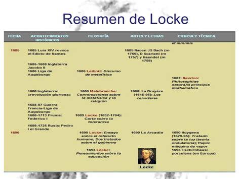 Locke Resumen Biografia by Locke Filosof 237 A Pol 237 Tica