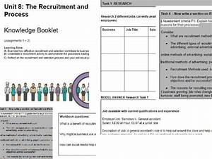 Btec Level 3 Unit 8 The Recruitment And Selection Process
