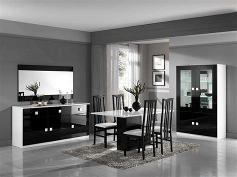 Black And White Sideboard by Andrea Italian White And Black Gloss 3 Door Sideboard 180cm