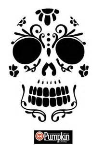 Sugar Skull Pumpkin Stencils Free by Pumpkins Patterns And Sugar Skull Art On Pinterest