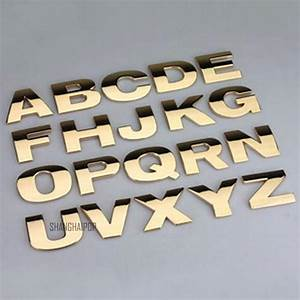 Alphabet letter car sticker self adhesive auto badge for Buy metal letters