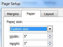 create index cards  ms word