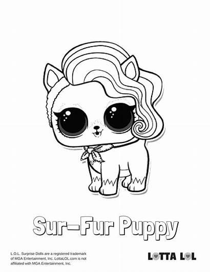 Lol Coloring Pages Surprise Puppy Lotta Sur