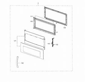 Samsung Me18h704sfs  Aa Door Assembly