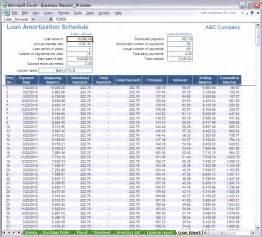 Microsoft Excel Amortization Schedule Template Loan Schedule Spreadsheet