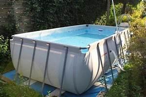 grosser aufstellpool von bestway mit sandfilteranlage in With französischer balkon mit garten pool bestway