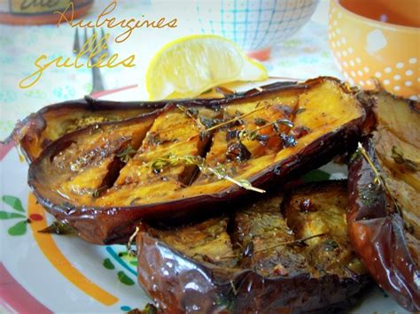 aubergines grillees marinees  lhuile dolive ail