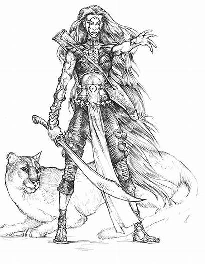Druid Female Neverwinter Nights Concept Characters Sketch