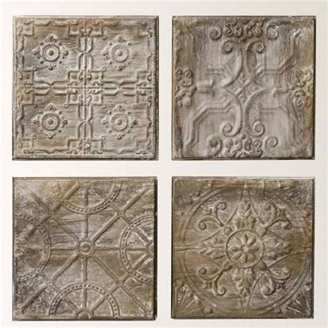 wall decor tiles embossed tin tile grouping set da4427a