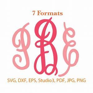 Cursive Monogram Font SVG Studio 3 / dfx / eps / png / jpg